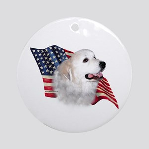 Pyrenees Flag Ornament (Round)